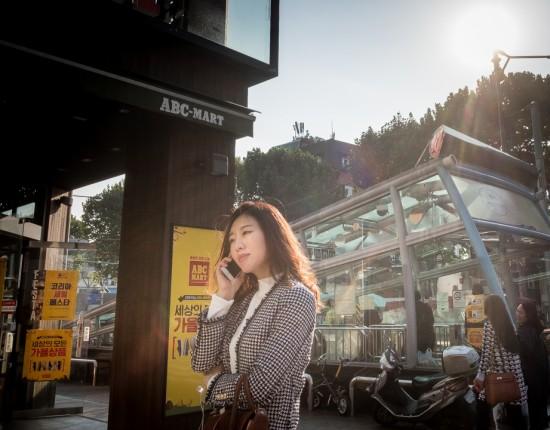 Octobre 2016 : scène de rue à Séoul, Corée du sud.