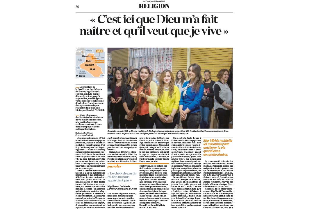LA CROIX / Jean-Matthieu GAUTIER