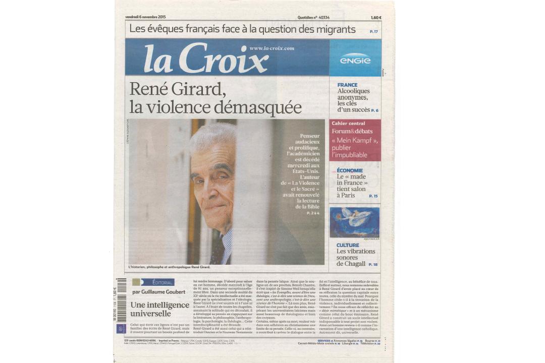 La Croix / Stéphane OUZOUNOFF
